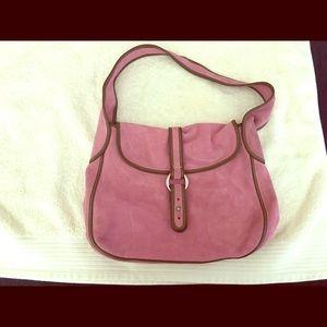 J. Crew Suede Hobo Shoulder Bag, light Pink.